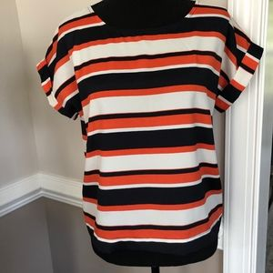BLUE ORANGE WOMEN'S TOP - PERFECT FOR FALL!